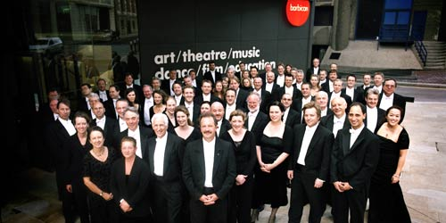 The LSO outside the Barbican in London