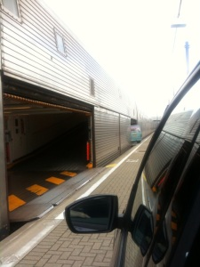 Getting on the EuroTunnel